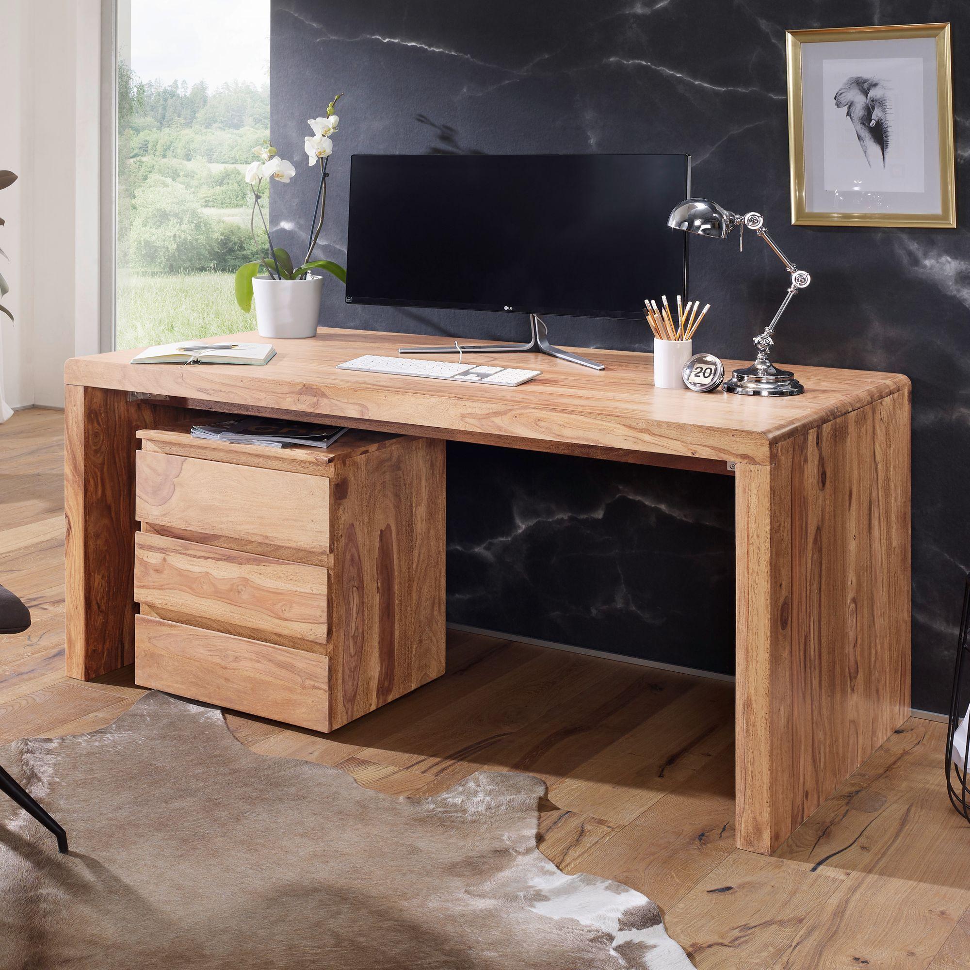 Schreibtisch Massiv Holztisch Akazie Buro Arbeitszimmer Tisch Grosse Wahlbar Design Schreibtisch Schreibtisch Holz Schreibtisch Massivholz