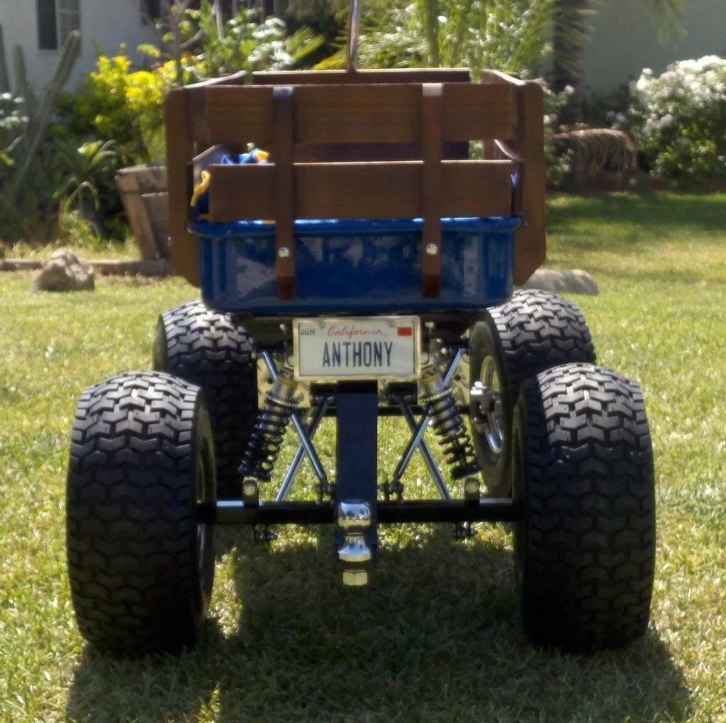 Custom blue 4Link wagon by Baja Wagon Custom wagons