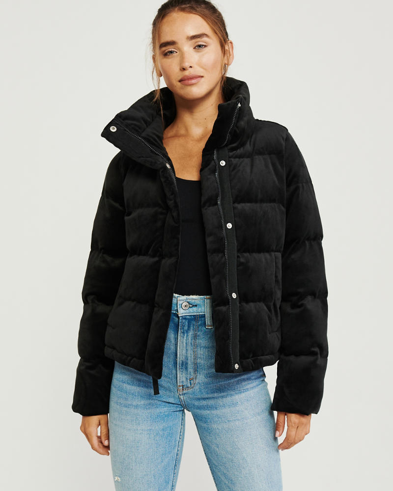 Womens Mini Faux Leather Puffer Jacket Womens Jackets Coats Abercrombie Com Puffer Jacket Women Puffer Jacket Outfit Women S Coats Jackets