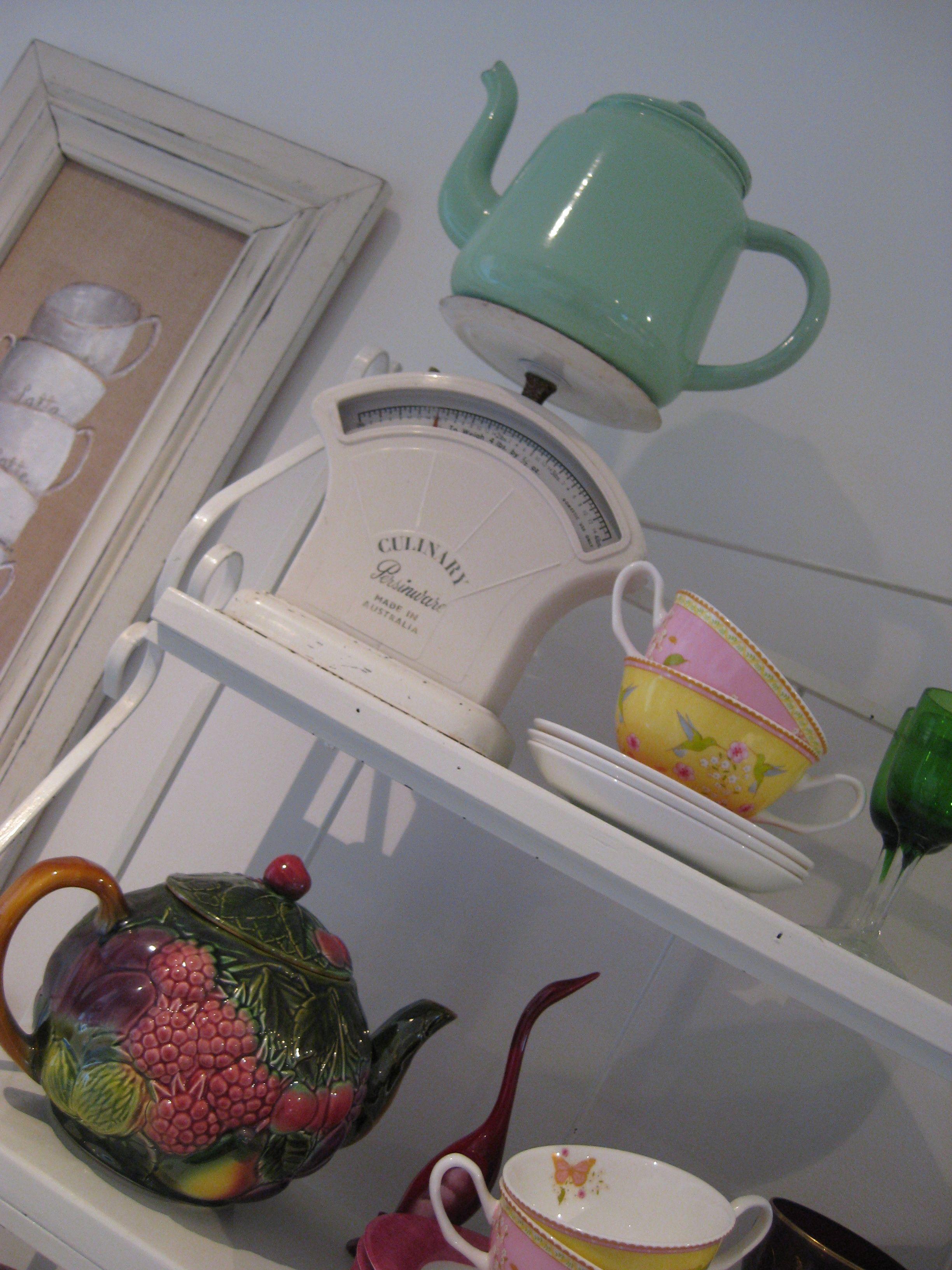 Little display of vintage scales in my kitchen vintage
