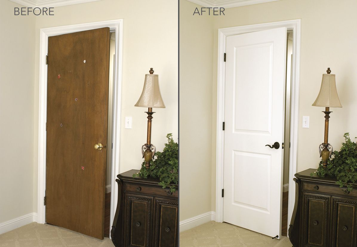 bedroom door replacement by homestory before after. Black Bedroom Furniture Sets. Home Design Ideas