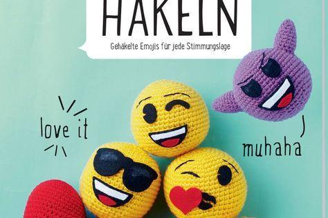 Emoji Häkeln Süßen Smiley Mit Herz Selber Machen Pinterest