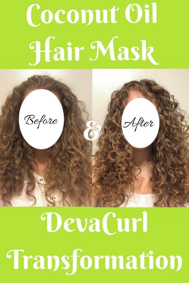 Coconut Oil Hair Mask And Devacurl Transformation This Overnight Coconut Oil Hair Mask Mixed With The Coconut Oil Hair Overnight Hair Mask Oil For Curly Hair