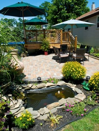 Create your own pond gardens pinterest pond patios for Make your own garden pond