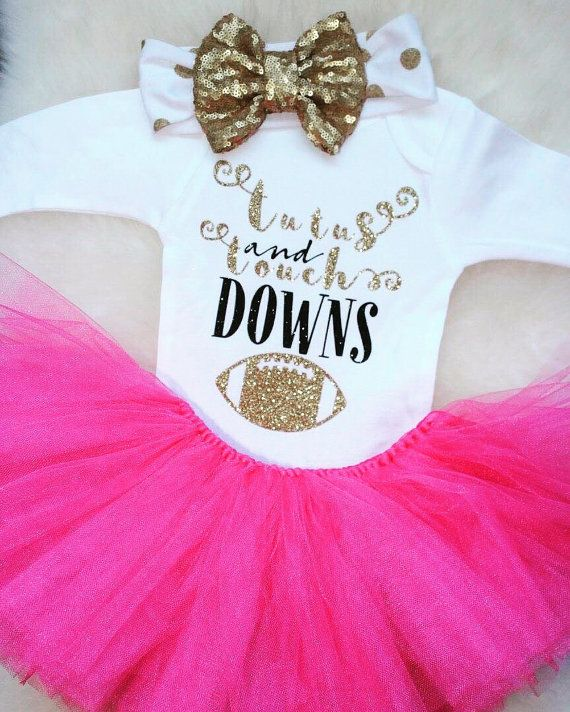 Tutu's and Touchdown Shirt Baby Shower Gift by ...