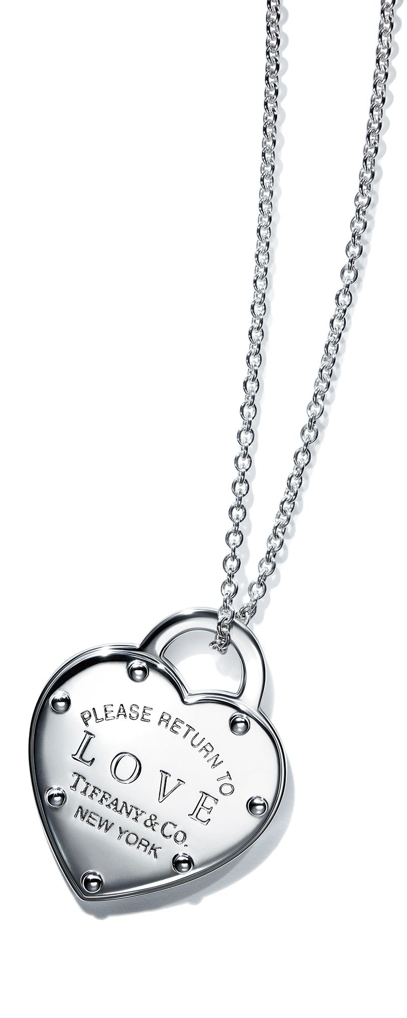 98f274e6826 Return to Tiffany® Love lock necklace in sterling silver.