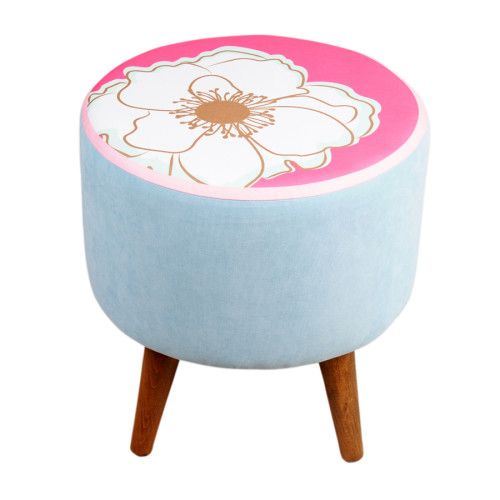 Dolce Home  Colours and Flowers Puf - Mavi 269,99 TL