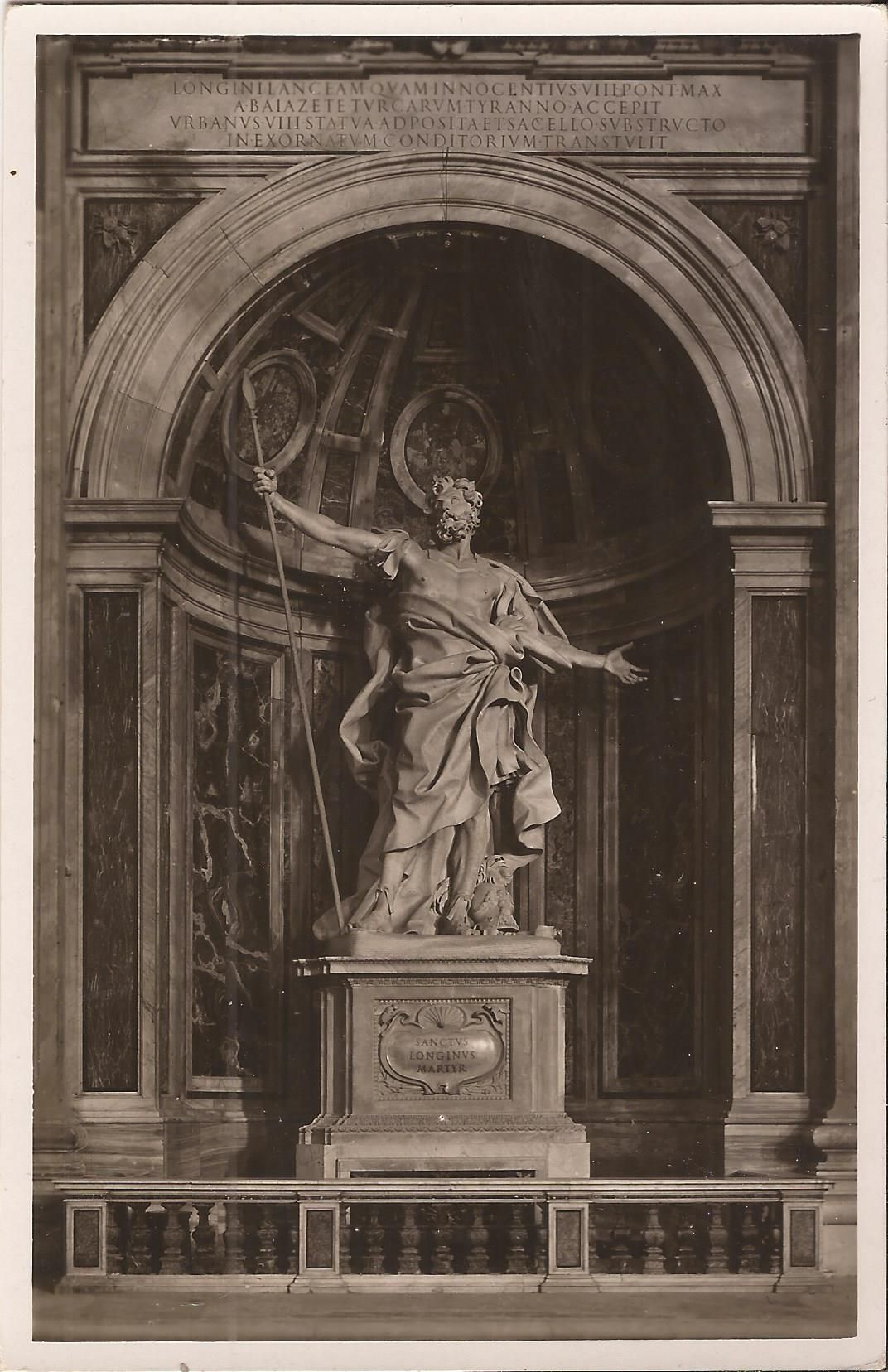 VINTAGE POSTCARD VATICAN CITY, ITALY Bernini Sculpture