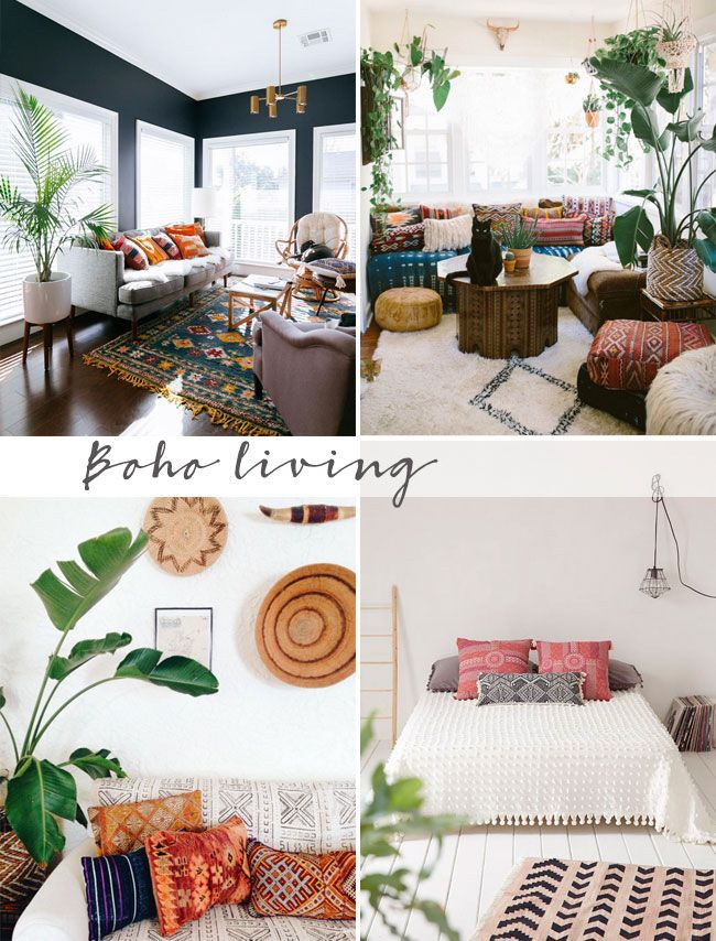 Eclectic boho style decor ideas wohnzimmer boho wohnzimmer wohnen - Boho style wohnzimmer ...