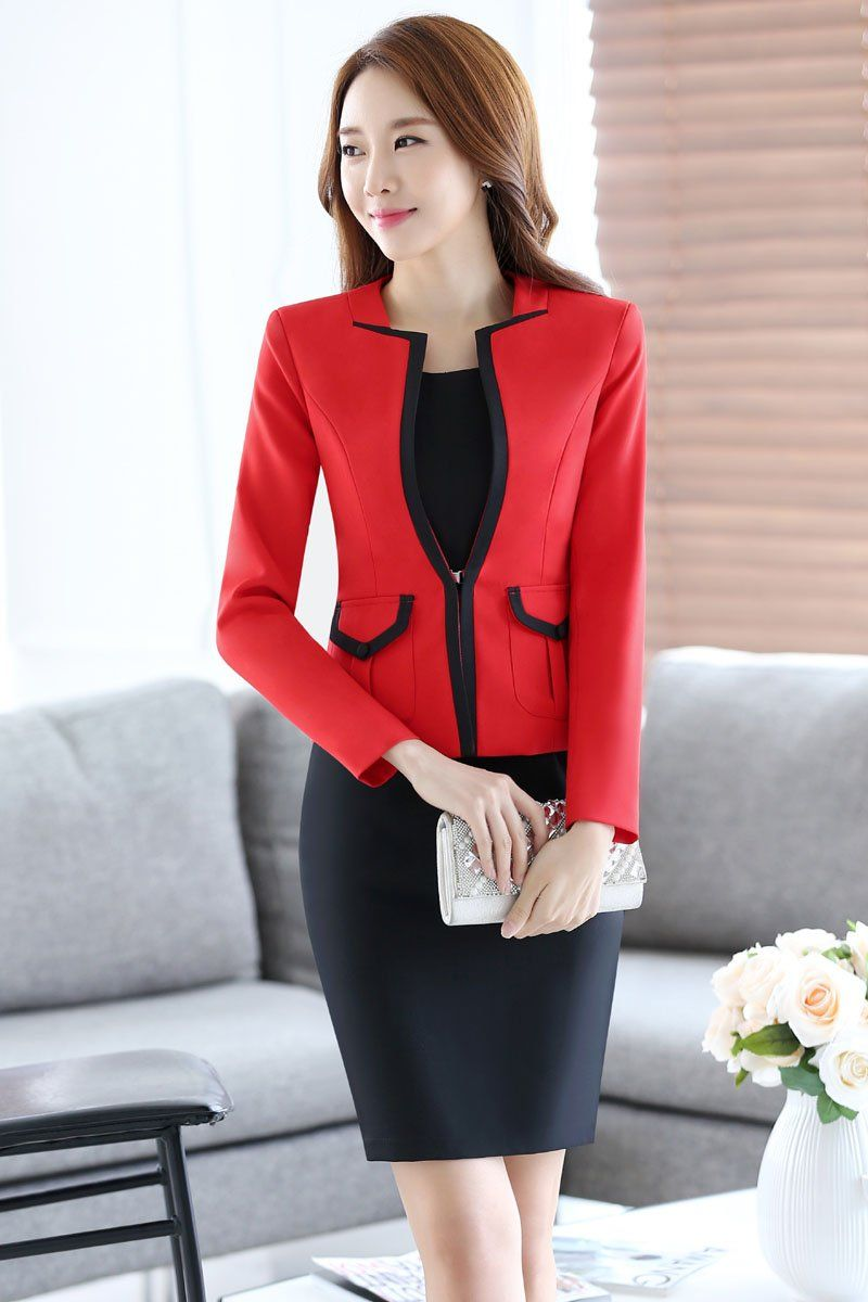 Suits & Sets Blazers Flight Tracker 2019 Solid Womens Blazers Coat Spring Autumn Long Sleeve Business Jacket Coat Black Pink Slim Fit Ladies Work Ol Suit Tops Blue