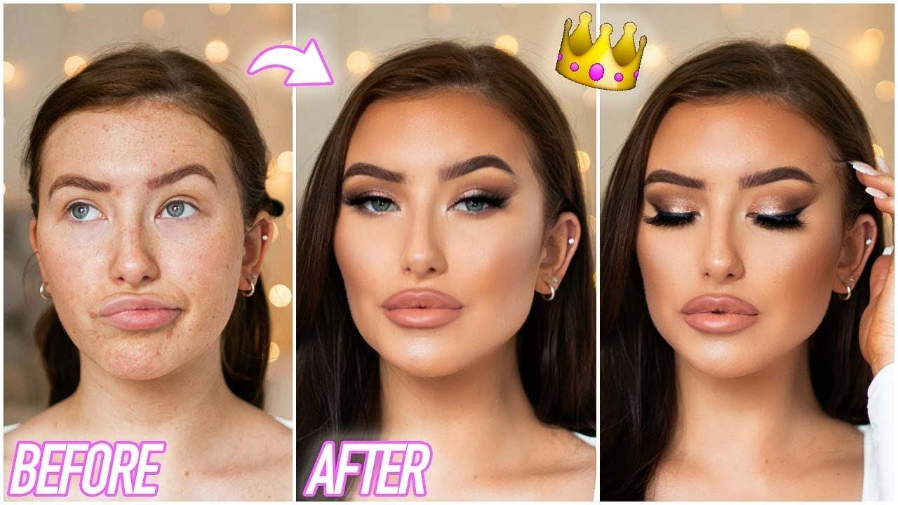 0100 PROM MAKEUP TUTORIAL FULL COVERAGE GLAM & SOFT