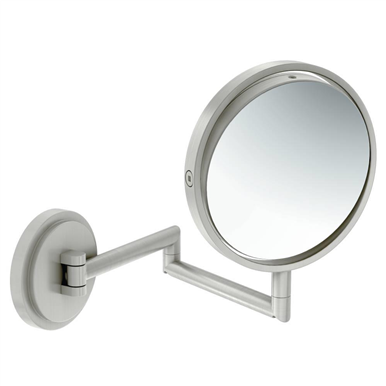 Moen Arris Brushed Nickel 5x Magnifying Mirror In 2020 Wall