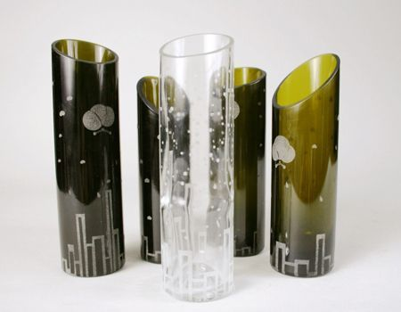 Recycle Your Wine Bottles Into Elegant Glass Vases Etching Paste