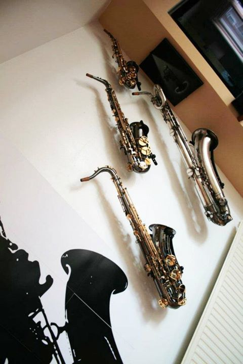 Alto Amp Tenor Stand Saxophone Pony Boy Wall Mounted