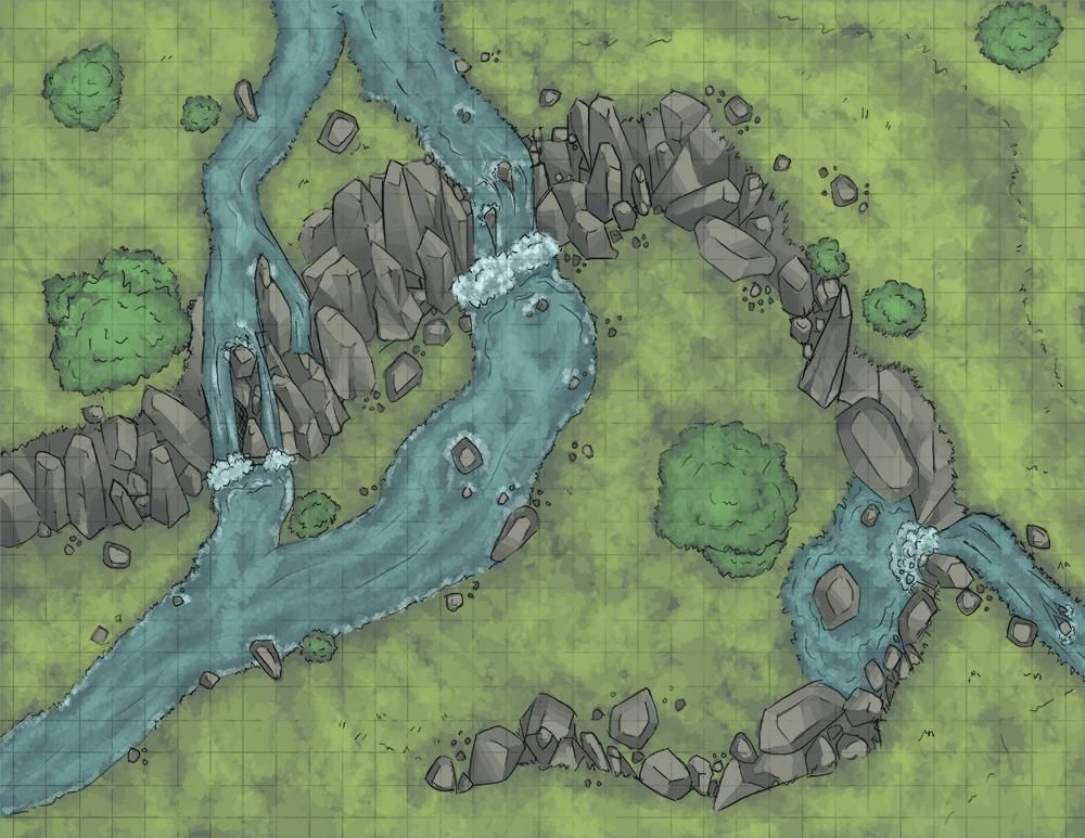 Rivers cliff waterfalls farmland forest hills Rivers