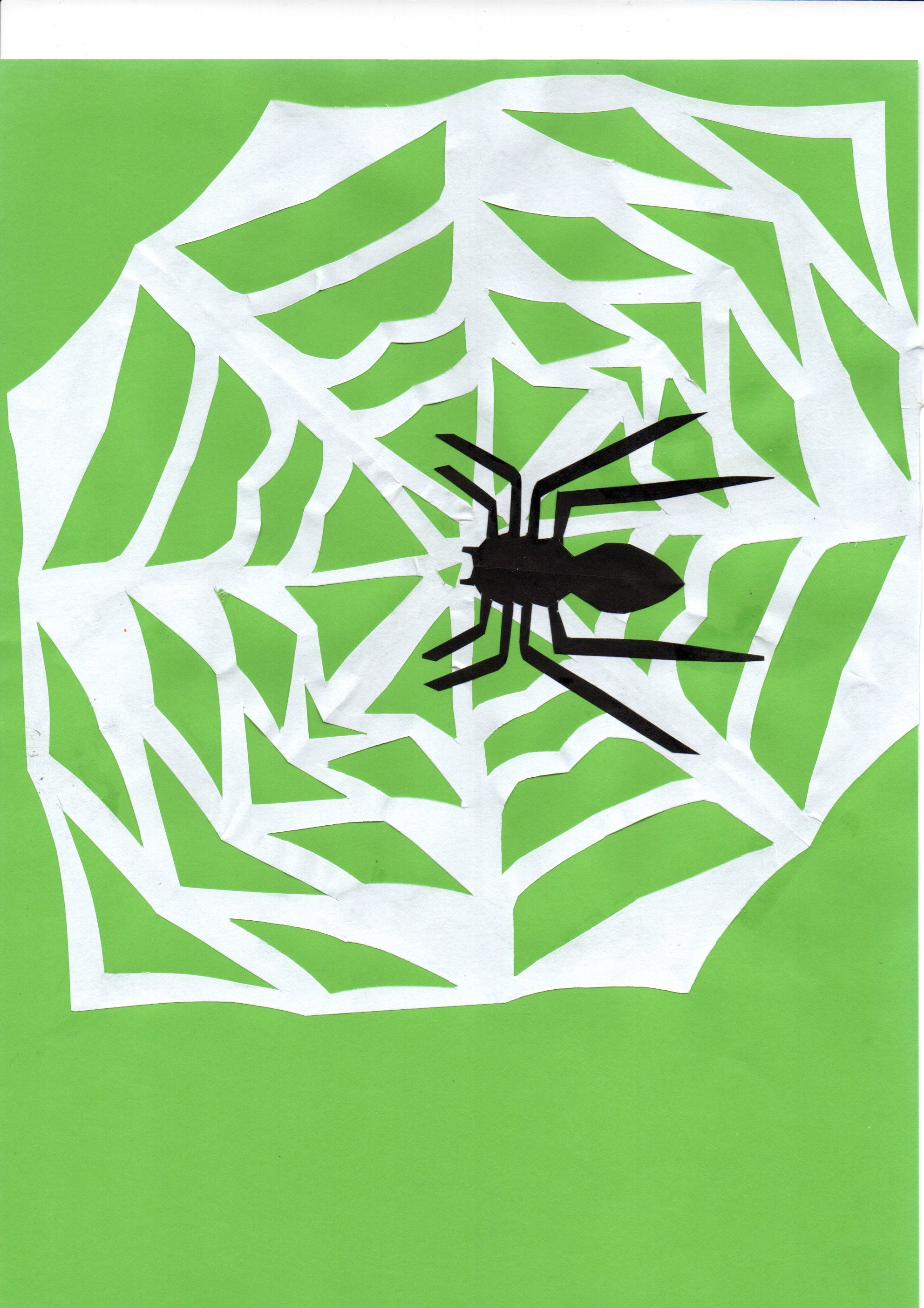 W Craft for children. Web with Spider. | ABC activities | Pinterest