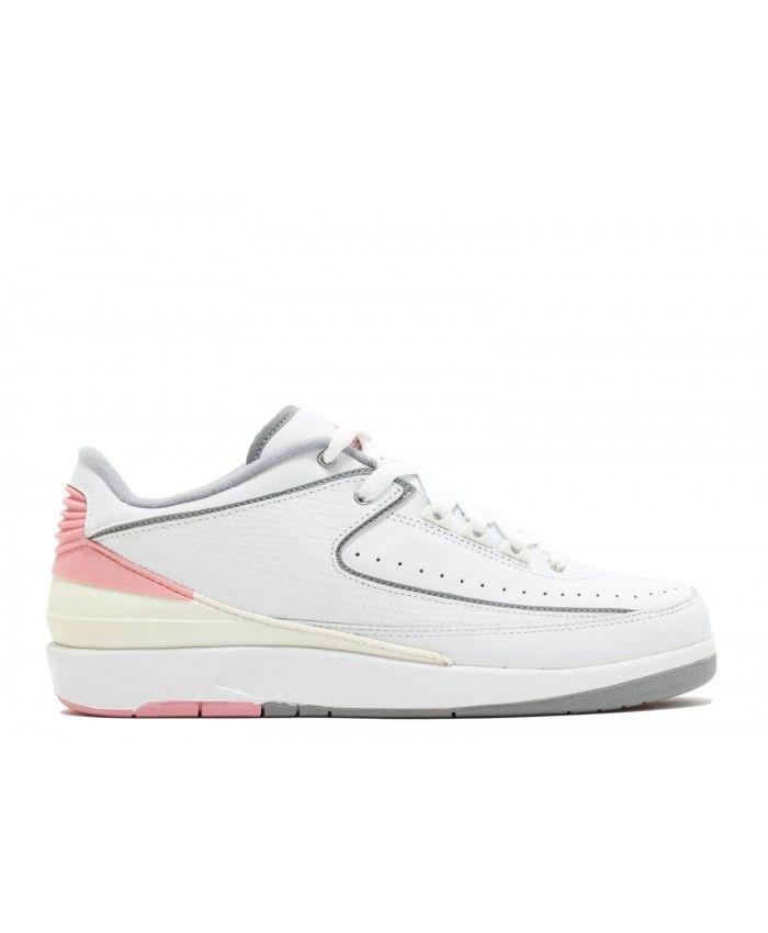 new arrival c513e bca74 W S Air Jordan 2 Retro Low White Light Steel Grey Rl Pink 311648 103