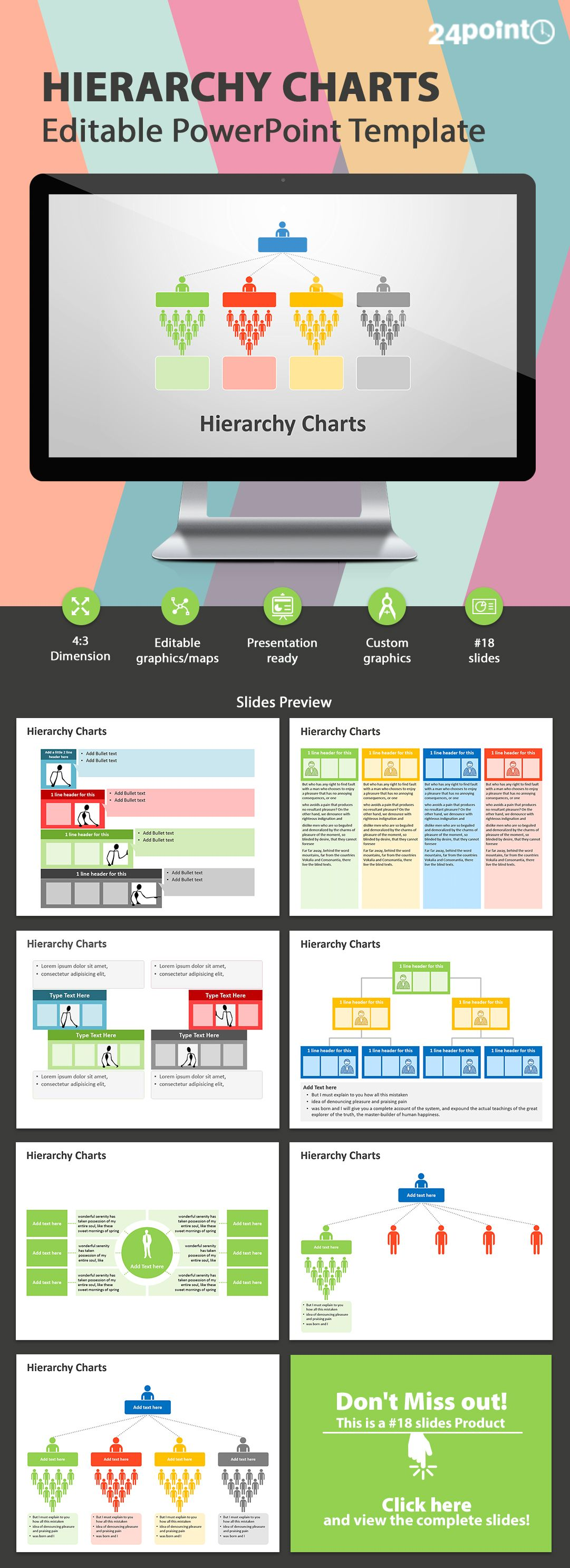 Editable powerpoint template hierarchy charts this colorful and editable powerpoint template hierarchy charts this colorful and visual hierarchy chart will help you show hierarchical relationships from top to bottom toneelgroepblik Choice Image