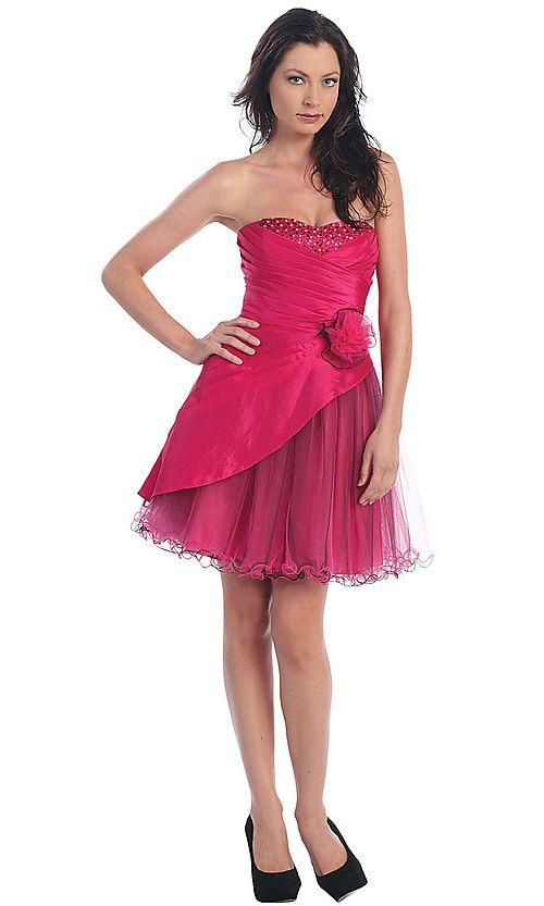 Buy Short Straples Semi Formal Dress Online Dress Store At