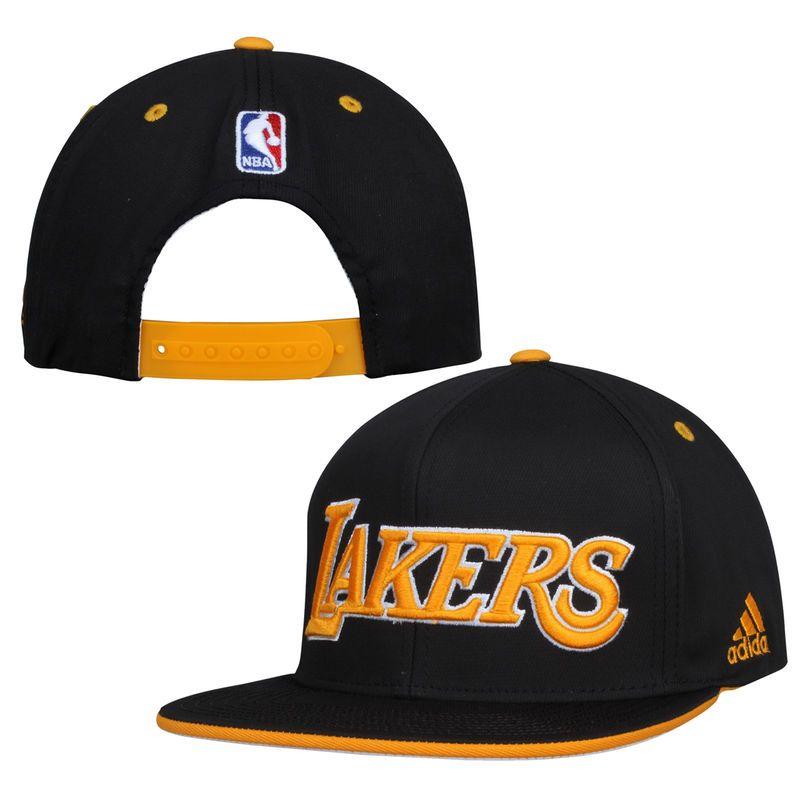 65a16d13f6c Los Angeles Lakers adidas NBA Team Nation Snapback Hat - Black