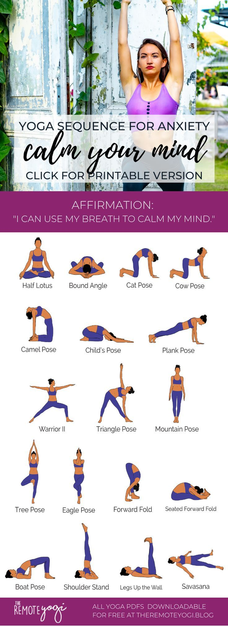 Yoga Poses for Anxiety-Free Anxiety Reducing Yoga PDF