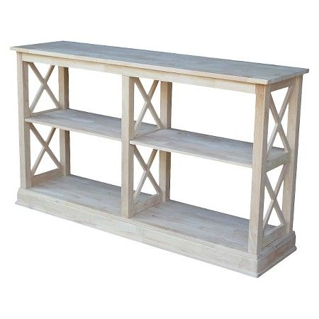 hampton sofa server table with shelves - international concepts