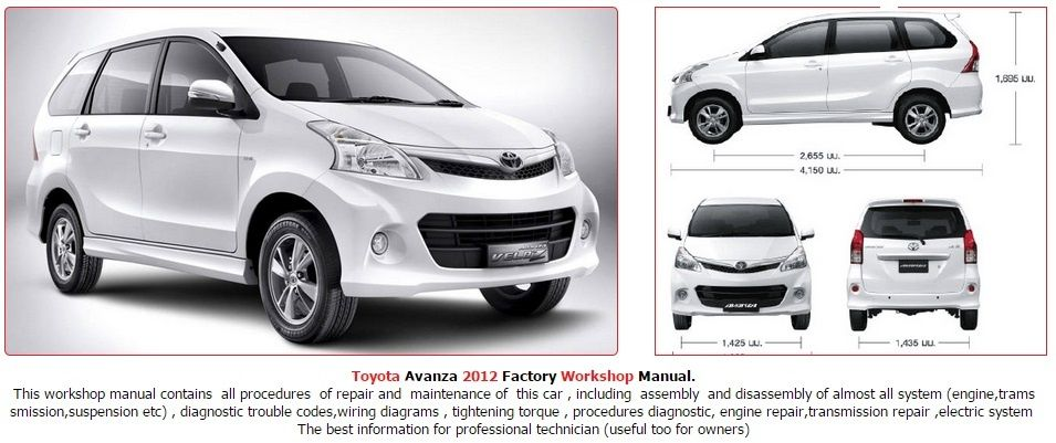 Toyota Avanza 2012 Gsic Repair Service Manual Car Repair Service Toyota Repair Manuals