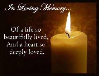 In loving memory...   Words of sympathy, In loving memory ...