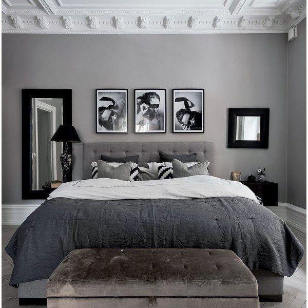 Top 60 Best Grey Bedroom Ideas Neutral Interior Designs White Bedroom Decor Grey Bedroom Decor Classy Bedroom Bedroom interior design ideas grey