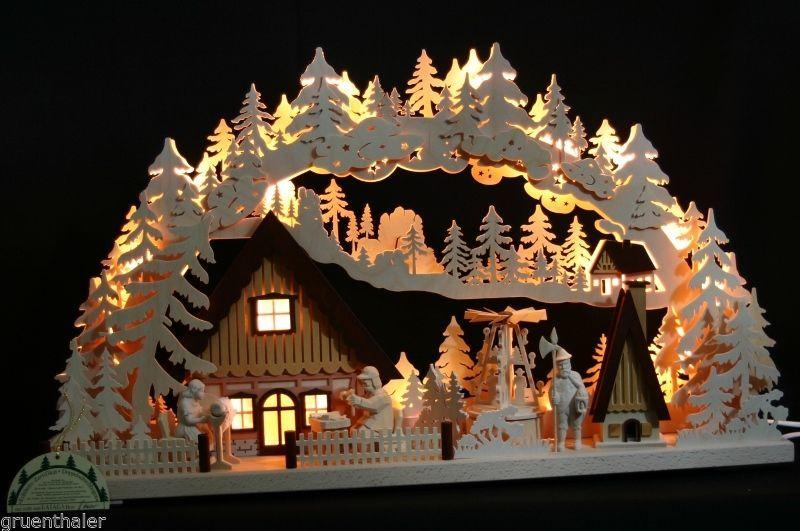 3d schwibbogen lichterbogen 72x43 pyramide raeucherhaus erzgebirge weihnachtskrippe. Black Bedroom Furniture Sets. Home Design Ideas