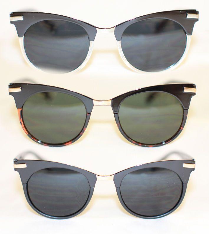 Cateye rund Sonnenbrille 50er 60er Jahre Pinup Retro schwarz tortoise rot 28 f7mmq4i