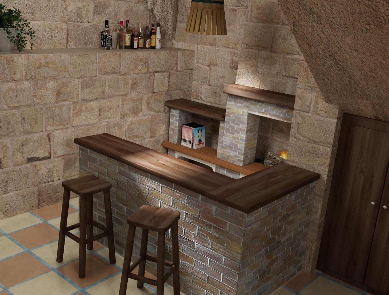 Bodega en 3d creada en manposter a bodegas rusticas pinterest - Bodegas rusticas decoracion ...