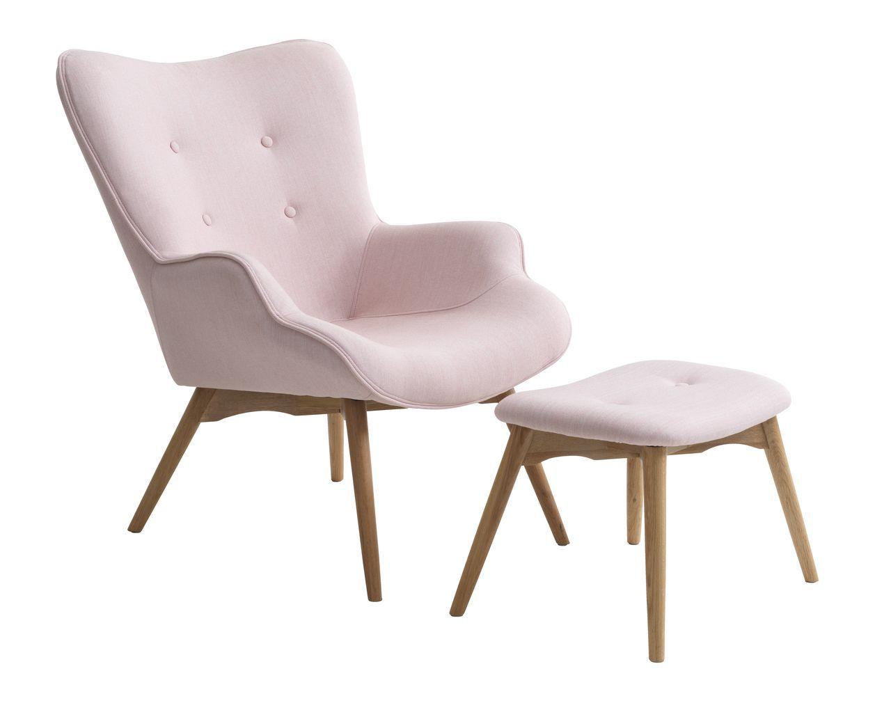 fauteuil mvoetenbank petersborg roze  jysk  arm chairs