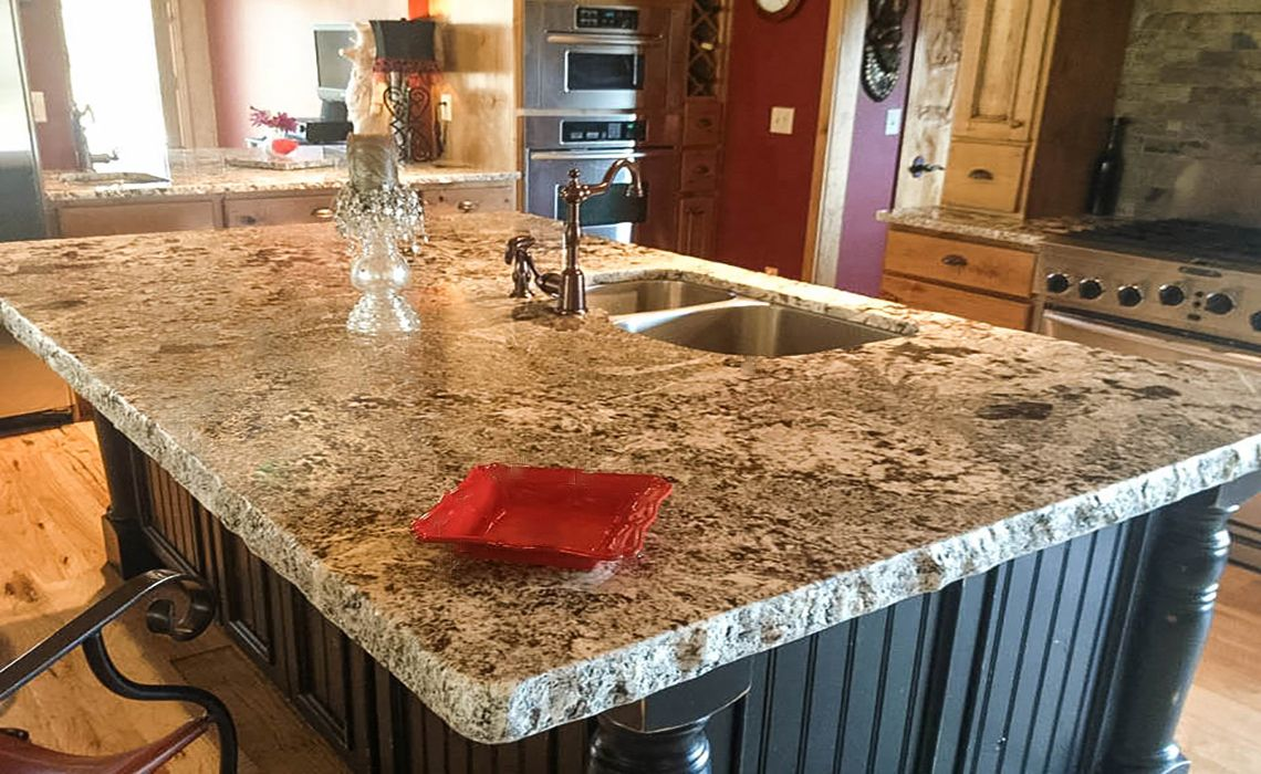 Crazy Horse Granite With 6cm Chip Edge Kitchen Cabinets