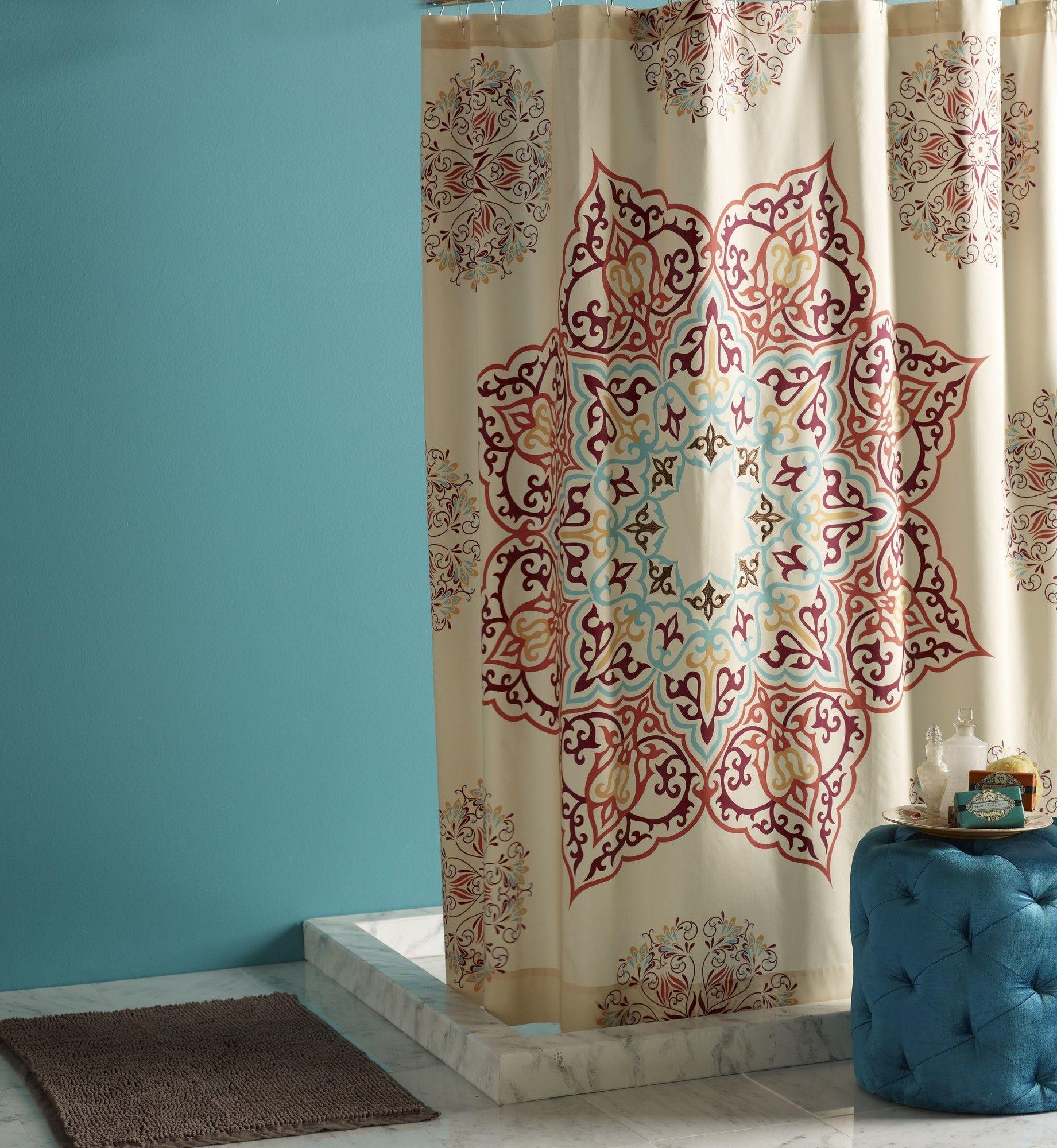 Blissliving Home Abu Dhabi Chanda Cotton Shower Curtain Wayfair