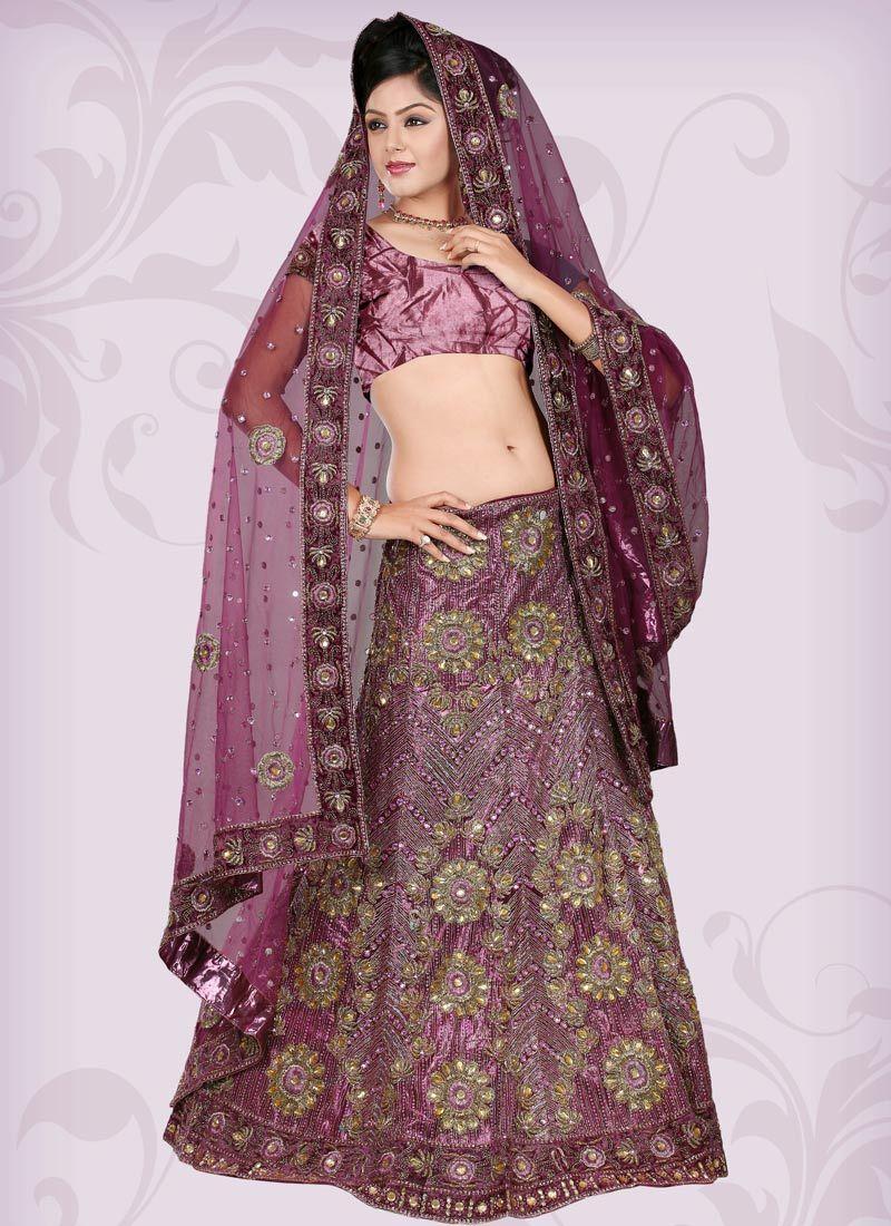 Purple Indian #Wedding Dress | Indian Bridal Dresses | Pinterest