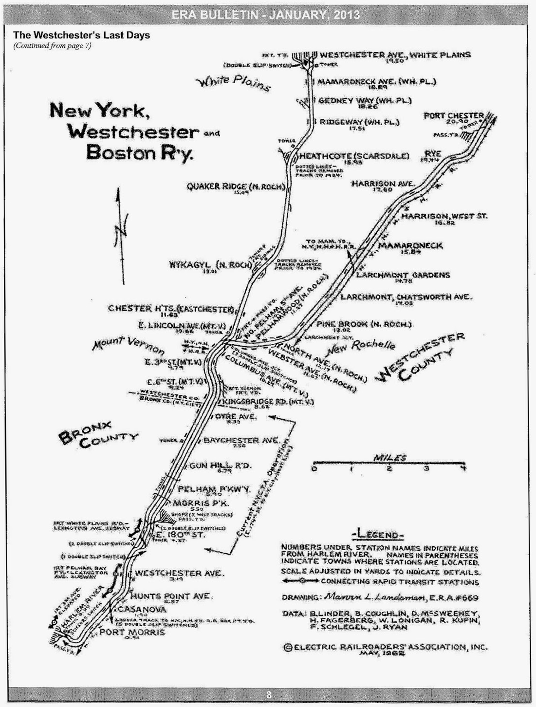 Track Map Of The New York Westchester Amp Boston Railway