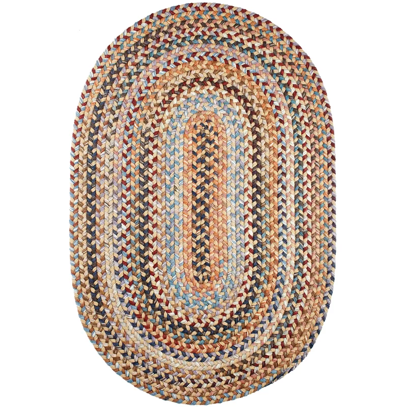 Ato Geometric Hand Braided Orange Area Rug Braided Area Rugs Braided Wool Rug Rhody Rug