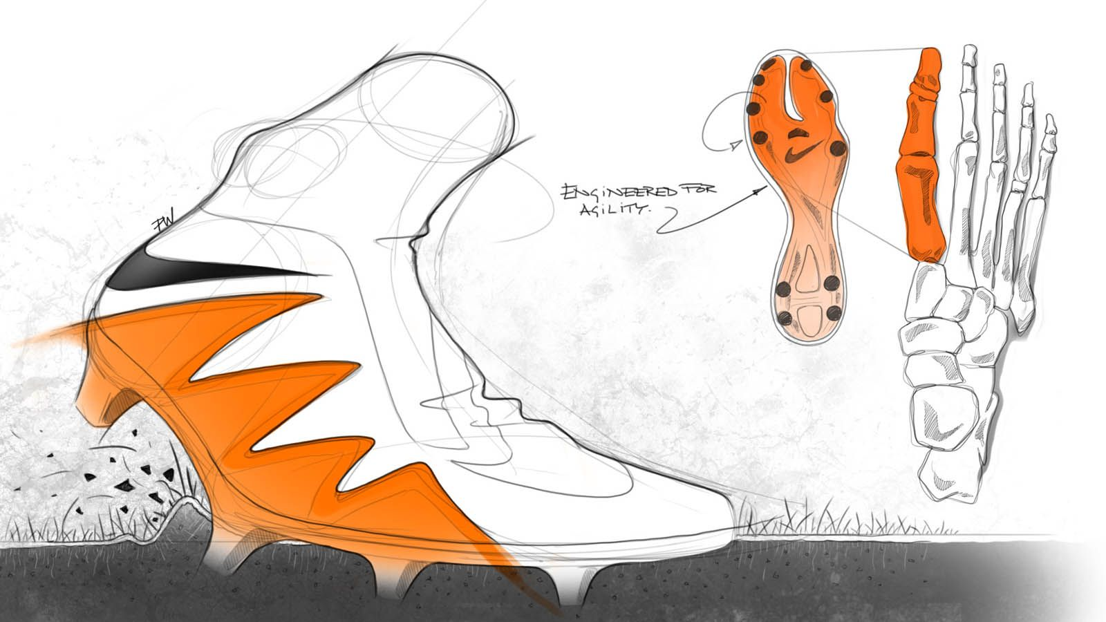 Boot design by nike - The Nike Hypervenom Phantom 2 Design Sketches Provide Unique Insights Into The Development Tech Features
