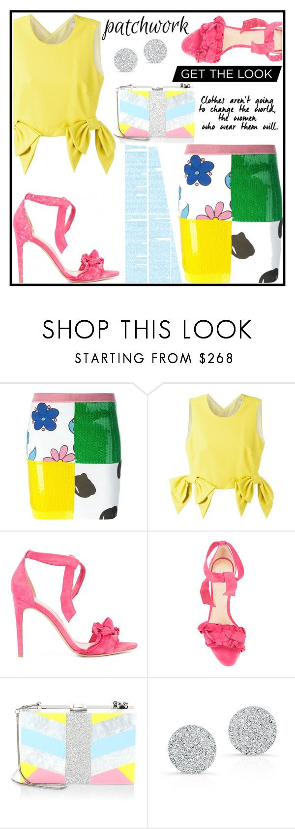 """Untitled #28"" by saghar1 ❤ liked on Polyvore featuring Jeremy Scott, MSGM, Alexandre Birman, Milly and Anne Sisteron"