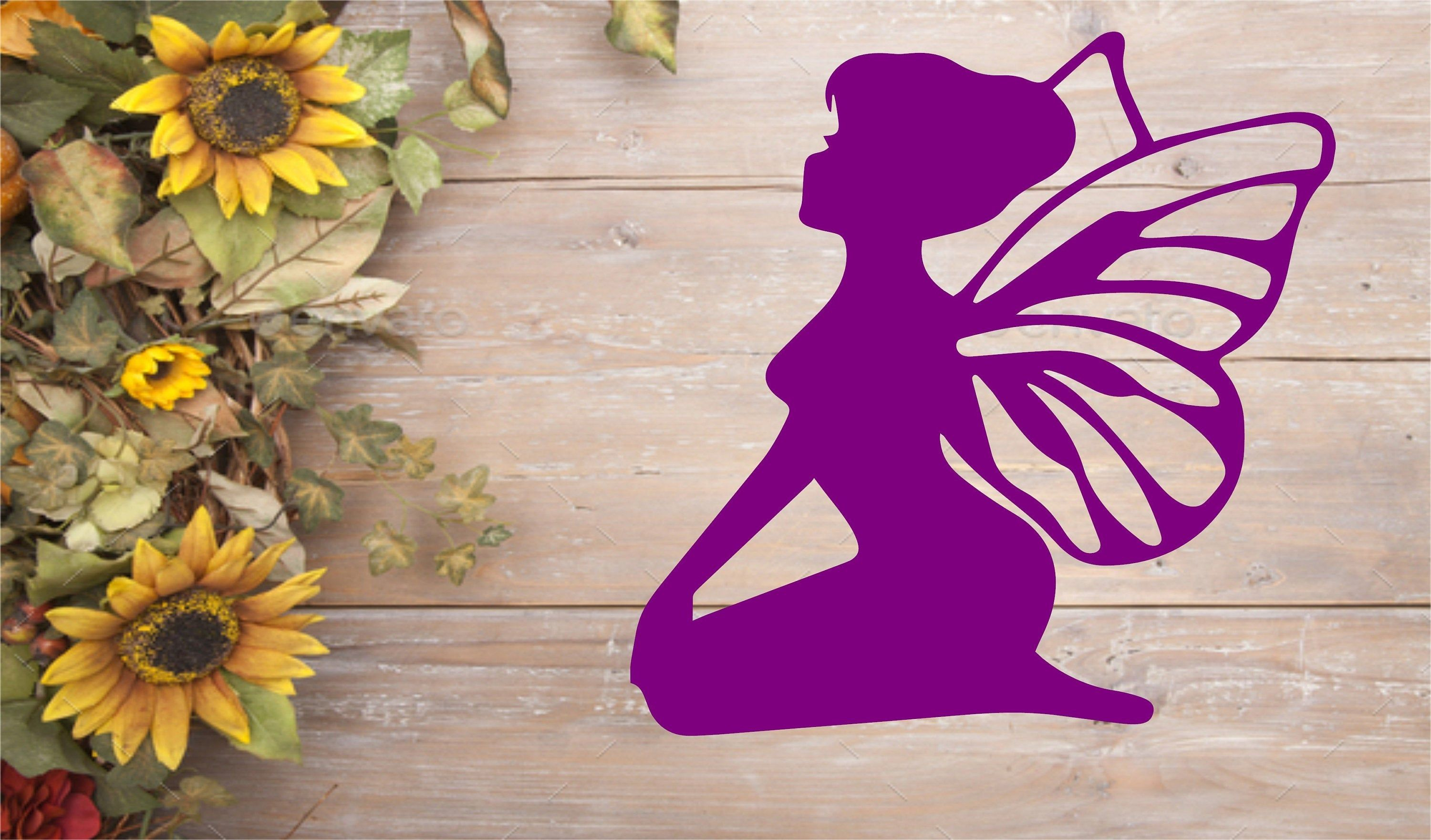 Kneeling Fairy For Your Vehicle And More Etsy Kneeling Fairy Heart Stickers [ 1762 x 3000 Pixel ]