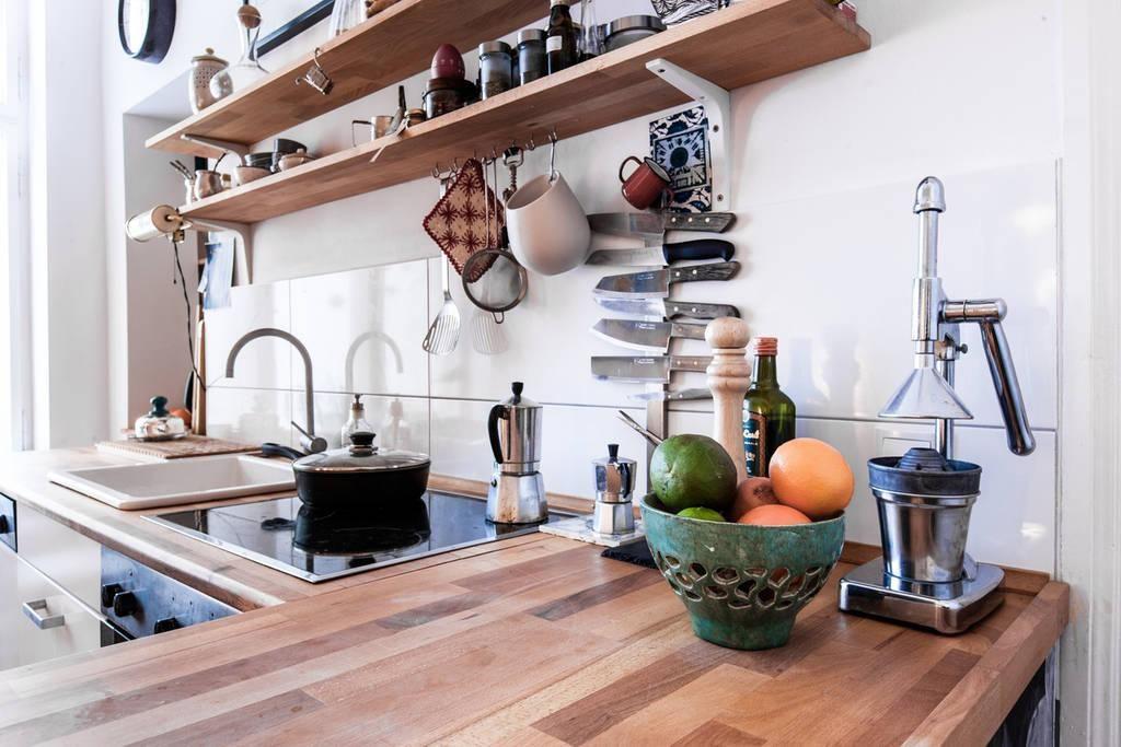 Gemütliche Küchen-Einrichtung in Berliner 3-Zimmer-Altbauwohnung - arbeitsplatten für die küche