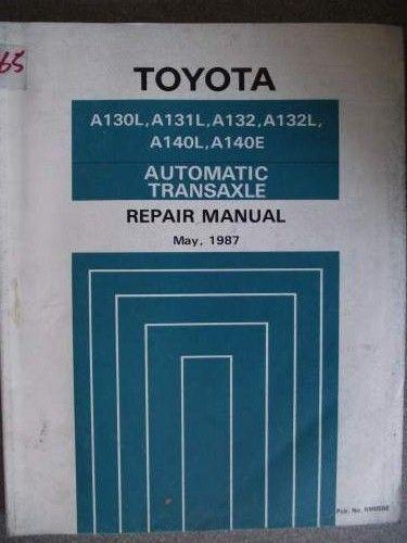 Toyota Automatic Transaxle Repair Manual 1987 RM058E