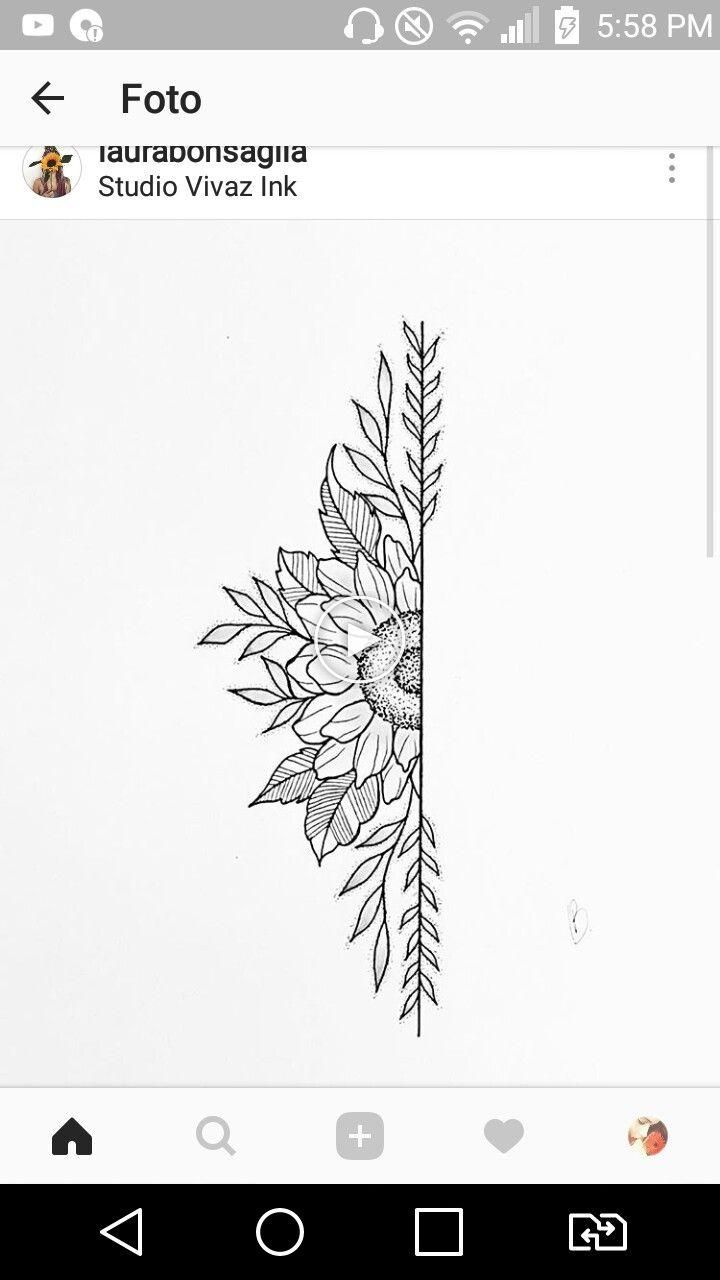 different design, but same style/idea – down the side – Flower Tattoos