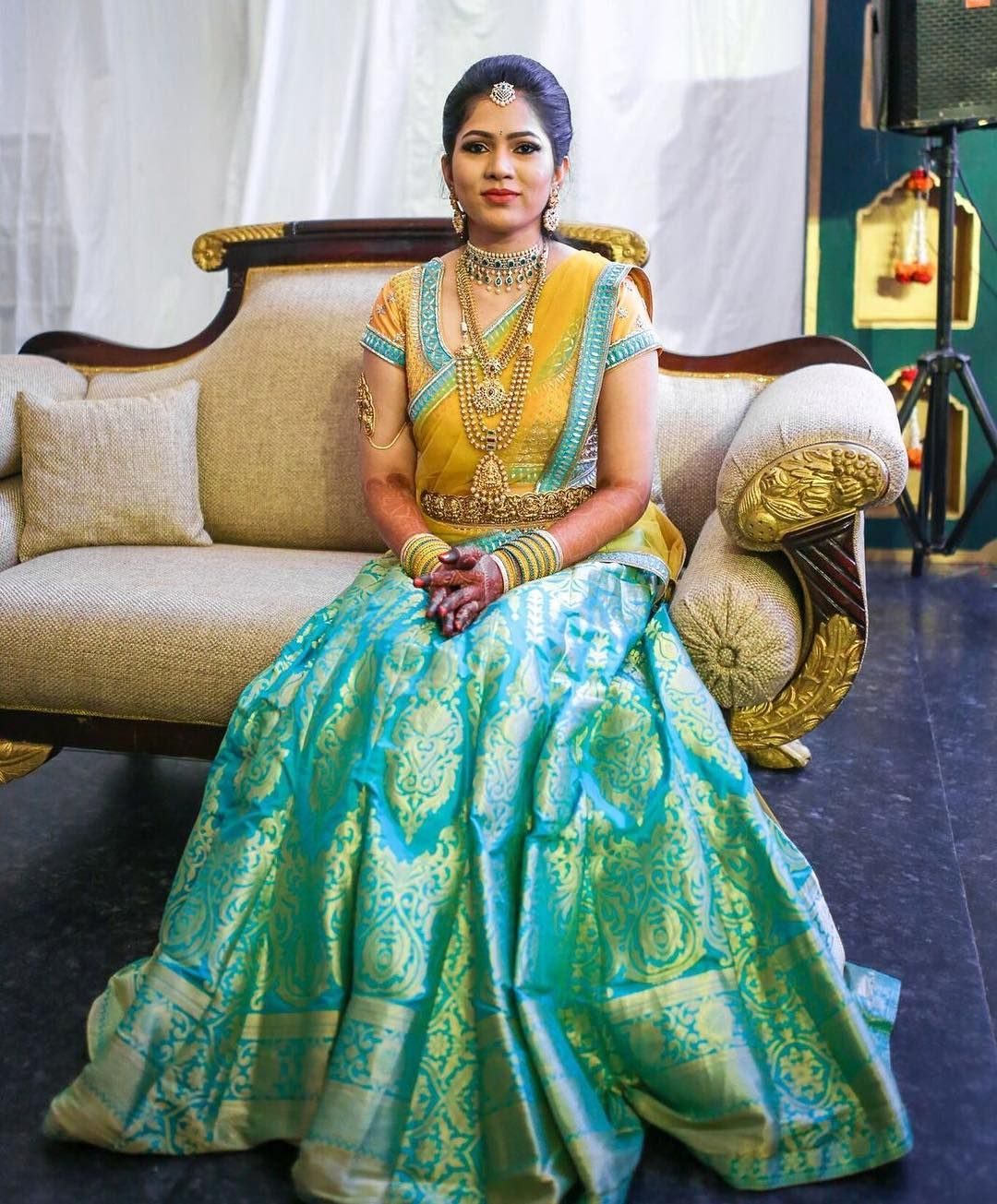Pin by Akshaya Reddy on Bridal looks | Pinterest | Traditional, Half ...