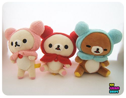 Japanese Plush Toys : San japan rilakkuma korilakkuma bear hood kawaii plush