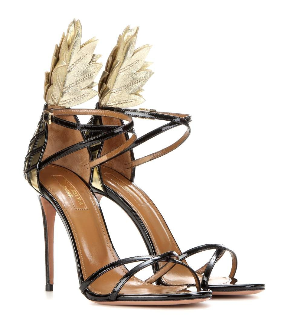 Leather Sandals With flowers Spring/summerAquazzura b4BivtL