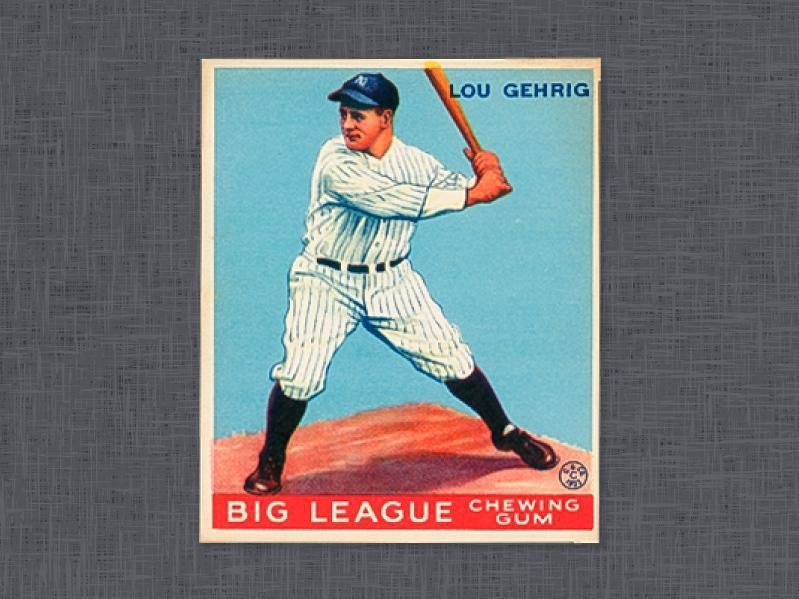 1933 goudey lou gehrig baseball cards baseball lou gehrig