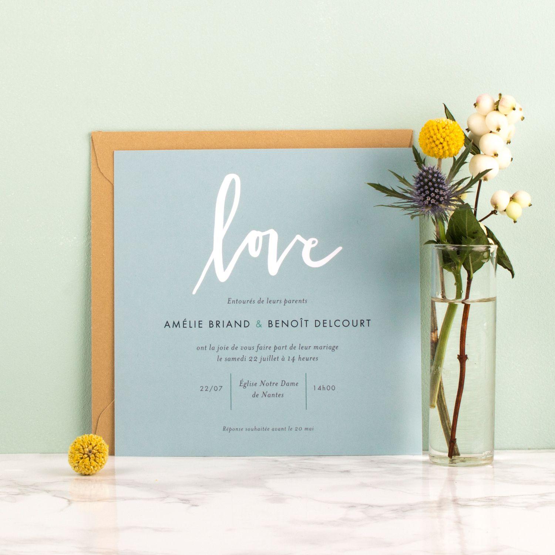 Le Faire Part De Mariage Lettres D Amour Exprime Avec