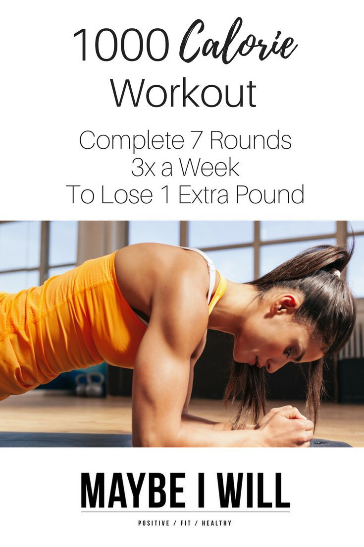 1000 Calorie Workout - Complete 7 rounds of 4 super targeted moves to shape and tone every part of your body!!